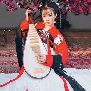 여자를위한 Hanfu 중국 국가 무용 의상 전통 가수 무대 복장 Cosplay Folk 복장 동양 축제 복장 DC1853