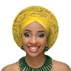 Kadın baş sarar afrika headtie türban gele aso oke aso ebi bandı afrika kafa wrap