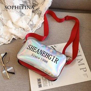 SOPHITINA Mode Sacs à main épaule réglable Lettre Bracelet Imprimer Décoration haute qualité Flap unisexe Parti sacs Messenger E16