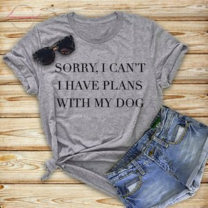 Sorry I Women Cant I Have Plans With My Dog Women Tshirt Cotton Funny T Shirt Gift For Lady Yong Girl Street