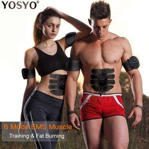 제품과 함께 EMS 근육 자극기 트레이너 스마트 피트니스 복부 훈련 전기 체중 감소 슬리밍 장치