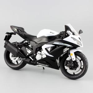scala 1:12 moto mini Kawasaki Ninja ZX-6R del metallo di sport Motociclo modellini auto da corsa sport strada auto giocattolo collezione modello per i bambini T200110