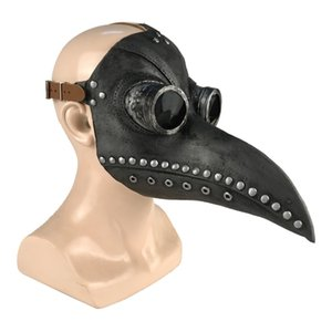 Party Masquerade Mask Halloween Mask Punk Leather Plague Doctor Mask Little Bird Halloween Cosplay Carnival Costume Props Mascara