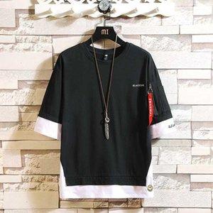 Fashion Half Short Sleeves Fashion O NECK Print T-shirt Men's Cotton Summer Clothes TOP TEES Tshirt Plus Asian Size M-5X.