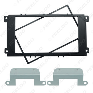 wholesale Black Car 2DIN Audio Radio Fascia Frame for Ford Mondeo 2007 C Max Dash Trim Face Plate Panel Kit #1720