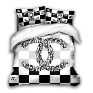 de lujo de tamaño sistemas del lecho del diseñador rey 3D cubierta del edredón almohada caso de matrimonio tamaño edredón de diseño cubierta de edredones de cama fija H1