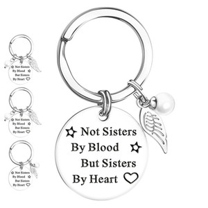 Sister Necklace Friendship Jewelry Shape Pendant Stainless Steel Chain Statement Necklace For Women