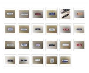 DIY Nähen Sticken gemacht Damast Stickerei Seiten Tags Hauptaufkleber für Kleidung Hut Etikett Beutelumbau Garment Tag Kleidung Etikett gewebt ri gewebt