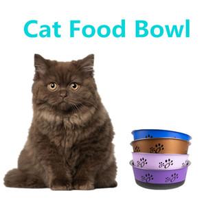 그릇 애완 동물을 마시는 DHL 배송 스테인레스 스틸 애완 동물 먹이 그릇 작은 크기 안티 스키드 애완 동물 개 고양이 물 사발 애완 동물 도구를 제공합니다
