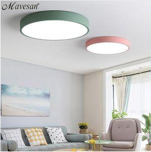 침실 원격 제어 5cm 천장 램프 용 LED 천장 조명 8 -20square 미터 현대 주택 조명기구 마카롱