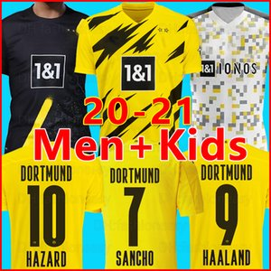 20 21 Camiseta de fútbol BVB Borussia Dortmund 2020 2021 GOTZE REUS HAALAND WITSEL Jersey PACO ALCACER chandal de fútbol Kit HOMBRE + juegos de kits de niños de la soccer jersey