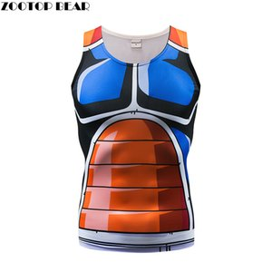 2018 New Tank Tops Men Vest Male singlet Anime Top&Tee Fitness Hit Color Tight Bodybuilding Sleeveless Summer Muscle ZOOTOP BEAR MX200518