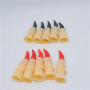 Decorazione di Halloween Puntello per unghie Strega Cosplay Avvolgere per unghie Accessori per abbigliamento Fantasmi Dita Vendita calda nera e rossa 1 9sxH1