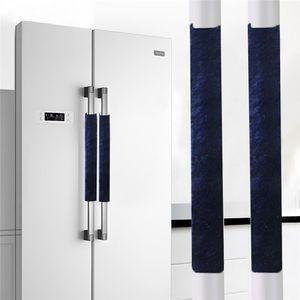 Buzdolabı Kapı Kolları Kapak Mutfak Aletleri Dekor Buzdolabı Fırın Ev Aksesuarları J22 5. için Antiskid Koruyucu Eldiven Kolları