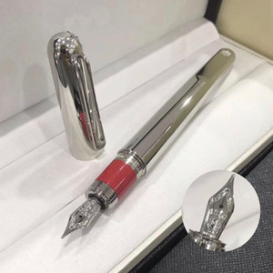 Limited Edition M Series silver Roller ball pen fountain pen with magnetic cap business office stationery Luxury mb write refill gift pens