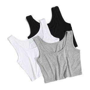 2019 New Female Women Sexy Crop Top Ladies Sleeveless Tank Tops T Shirt Tee Short halter Tops Fashion Summer Basic Stretch Tops