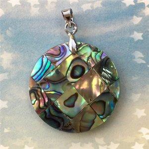 Natural shell ornamentos Nova Zelândia abalone shell 23 MM rodada em forma de coração elíptico pingente pingente de gota
