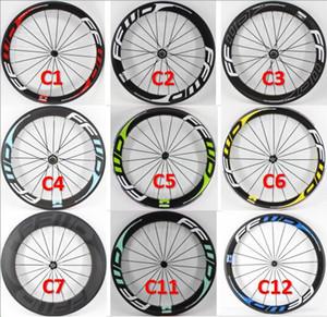 Brand New 700C Rennrad glänzend matt 3K UD 12K Vollcarbonfaser-Fahrrad Radsatzes Carbonröhren clincher Tubeless Felgen Freies Verschiffen