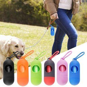 Caso Garbage Dog Poop Bag Dispenser do cão do distribuidor incluído Pick Up Bag Pet portátil abastecimento doméstico ferramenta de limpeza