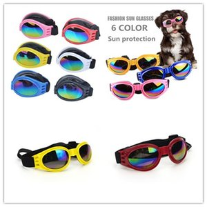 Fashion Dog Glasses Foldable Sunglasses Medium Large Dog Glasses Waterproof Eyewear Protection Goggles UV Sunglasses Pet Supplies Free Ship