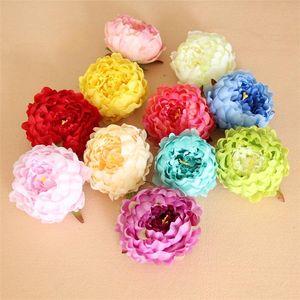 공예 가짜 꽃다발 실크 모란 (13 개) 색상 조화 리얼 터치 꽃 웨딩 홈 파티 장식 실크 꽃 T2I257