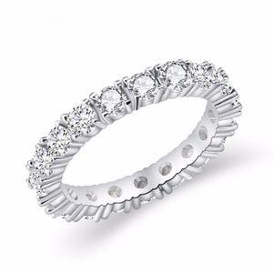 2019 ювелирные изделия белого цвета Inlay Цирконий Уникальный образный Размер кольца для женщин Свадебные Обручальное