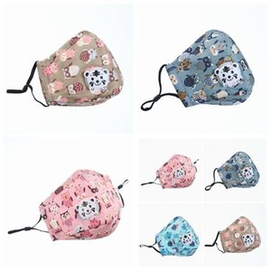 Latest cotton children's mask children's favorite cartoon mask activated carbon filter breathing valve dust mask with stoc PM2