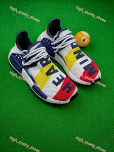 2020 new Xshfbcl Pharrell Williams NMD Human Race Shoes Running Shoes Nobel Ink Human Races Mens Shoes Women Trainers