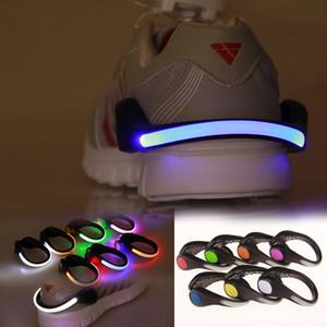 Novela de iluminación Night Running LED Shoes Clip de señal de seguridad plástico LED shoes Clips flash luminoso Luz exterior zapatos de seguridad Clip