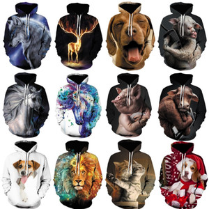 2020 fashion men hoodie 3D animal printed hoodies for men and women Fashionable Double-sided printing sweatshirt Large hoodie s-5xl