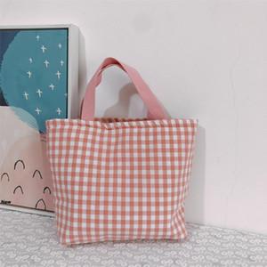 Buffalo Controllare borsa in cotone a quadri Shoulder Bag Donne Shopping Bags grande capacità Tote di corsa Sport bagagli sacchetti pranzo borse GGA3480-2