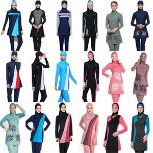 Plus Size Muslim Maillots de bain Femme Floral modeste Imprimer PARFAITEMENT maillot de bain islamique Hijab Islam Burkinis Beachwear Maillot de bain
