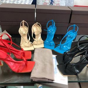 Дизайнер флип-флоп STRETCH SANDALS роскоши моды ботинки платья свадебные свадебные туфли на высоких каблуках женщины дизайнера сандалии голеностопного ремень сандалии
