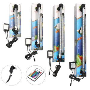 Waterproof Aquariums Lighting RGB Remote Aquarium Fish Tank Light 5050 SMD LED Bar LAMP Aquatic Submersible Tube