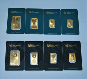 1 OZ Gold Bar Series The Perth Mint Bullion Bar Australia Copia Bar Verde nero Blister Qualità Vendita calda Regalo d'affari