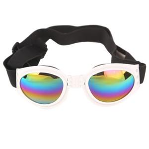 Occhiali da sole per cani pieghevoli Occhiali anti-vento Occhiali protettivi per occhiali Occhiali per la protezione degli occhi Occhiali da sole elastici per animali domestici di sicurezza universale Trasporto veloce