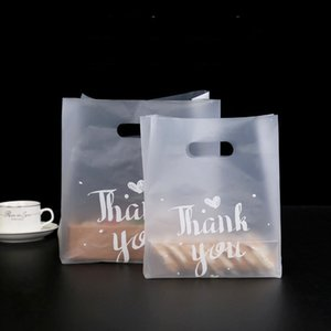 50pcs Packaging Thank You Candy Gift Bags Environmentally Friendly Chocolate Dragees Sweet Plastic Cupcake Bag Wedding Wrapping