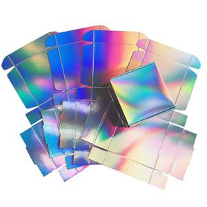 Boîte-cadeau holographique pour la fête, boîte de souvenirs de mariage, 2 Taille disponible, 20pcs / lot