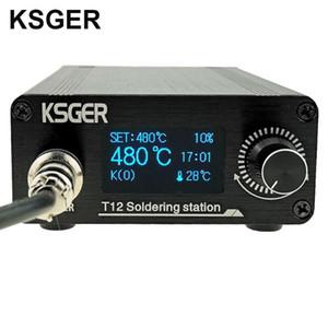 KSGER T12 OLED Lötstation T12 Eisen Tipps STM32 DIY zusammengebautes Kits ABS-Kunststoff FX9501 Griff Elektrische Werkzeuge Schweiß Heizung