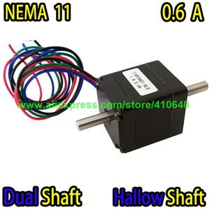 EIXO DUPLO E EIXO FUNDIDO Nema11 Motor de Passo 11HY3401-HLS 0,6 A 5,5 N.cm Aplique para Mounter ou Dispenser ou Impressora