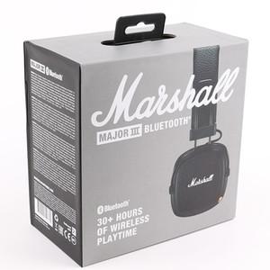 Marshall major III 3.0 de fone de ouvido Bluetooth com microfone Deep Bass Hi-Fi DJ Wireless Headset Professional Retail caixa DHL grátis