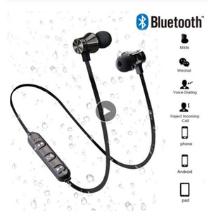Fast New Magnetic Wireless Bluetooth Earphone Stereo Sports Waterproof Earbuds Wireless in-ear Headset with Mic For IPhone 7 Samsung