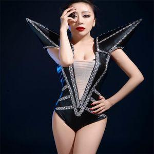 Z22 Ballroom Dance Armor Costumes Femmes La Scène De Spectacle Porte Le Body Dj Sexy Robes Vêtement Vêtement Bar Jupe Robot Tenue Femmes KTV