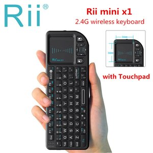 Cheap Keyboards Original Rii mini X1 Wireless Keyboard 2.4G Air Fly Mouse Handheld Touchpad gaming for smart TV Android tv box PC