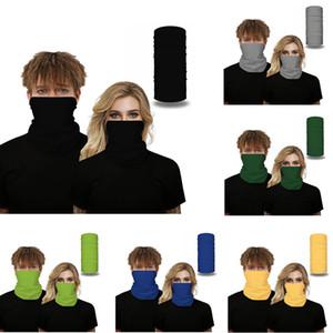 Solid Color Bandana Mulheres Homens Rosto Shields Ar Livre Equitação Scarf respirável Magia Lenço Turban Windproof Bufanda