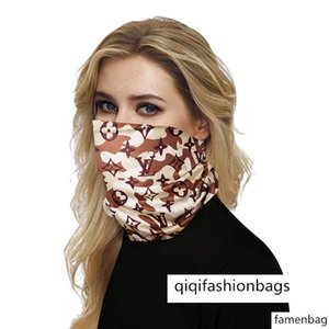 2020 SALE Luxury Half Face Masks Outdoor Bicycle Cycling Bandanas Scarf Designer Headband Sports Head Scarves Washable Protective Face Mask