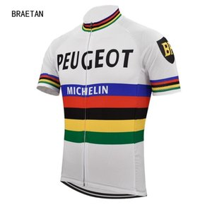mens ciclismo Jersey peugeot pro time Camisa estrada ropa ciclismo roupas bicicleta xadrez maillot ciclismo roupa do desgaste moto legal