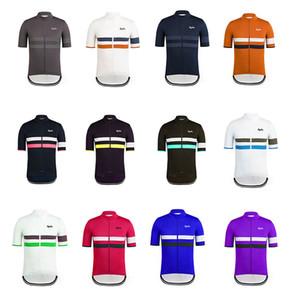 2019 equipa Rapha camisa de ciclismo manga curta (bib) calções conjuntos ciclismo roupas respirável exterior mountain bike