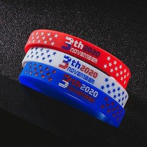 Трамп силиконовый браслет 2020 президентские выборы шаблон 3 цвета личность мода Трамп Силиконовый спортивный браслет Браслет IIA35N