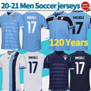 2020 Lazio 120 anniversaire de football Maillots 19/20 hommes blancs loin de soccer Shirts # 17 # 13 Immobile WALLACE uniformes troisième de football sur mesure